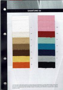 Shantung Farben