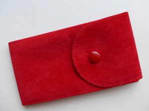Pockets for watches made of flocked material
