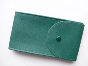 Pockets for watches made of leather imitation